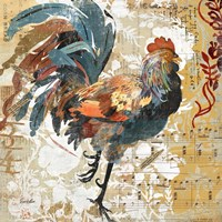 Rooster Flair I Fine-Art Print