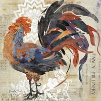 Rooster Flair V Fine-Art Print