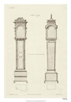 Chippendale Clock Cases II Fine-Art Print