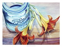 Ball Jar Flower I Fine-Art Print