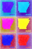 Arkansas Pop Art Map 2 Fine-Art Print