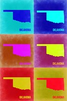 Oklahoma Pop Art Map 2 Fine-Art Print