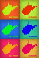 West Virginia Pop Art Map 1 Fine-Art Print