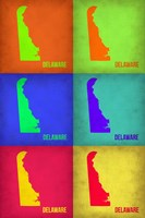 Delaware Pop Art Map 1 Fine-Art Print