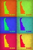 Delaware Pop Art Map 1 Fine-Art Print