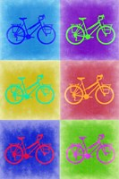 Vintage Bicycle Pop Art 2 Fine-Art Print