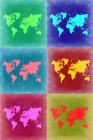 World Map Pop Art 4 Fine-Art Print