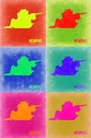 Memphis Pop Art Map 3 Fine-Art Print