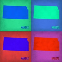 Kansas Pop Art Map1 Fine-Art Print