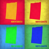North Dakota Pop Art Map 1 Fine-Art Print