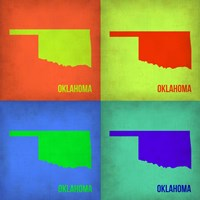 Oklahoma Pop Art Map 1 Fine-Art Print