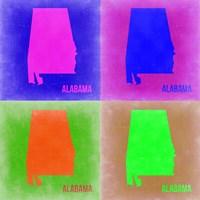 Alabama Pop Art Map 2 Fine-Art Print