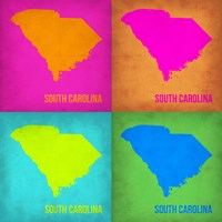 South Carolina Pop Art Map 1 Fine-Art Print