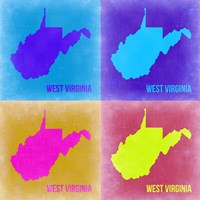 West Virginia Pop Art Map 2 Fine-Art Print