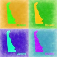 Delaware Pop Art Map 2 Fine-Art Print