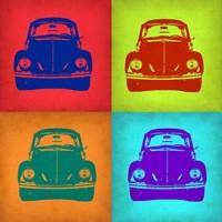 VW Beetle Front Pop Art 1 Fine-Art Print
