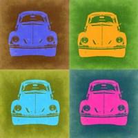 VW Beetle Front Pop Art 2 Fine-Art Print