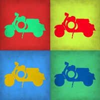 Vintage Scooter Pop Art 1 Fine-Art Print