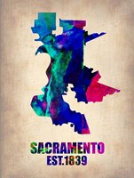 Sacramento Watercolor Map Fine-Art Print
