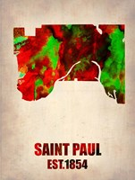 Saint Paul Watercolor Map Fine-Art Print