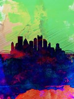 Pittsburgh Watercolor Skyline Fine-Art Print