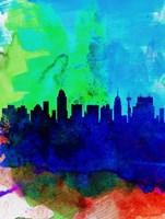 San Antonio Watercolor Skyline Fine-Art Print