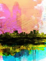 Anchorage Watercolor Skyline Fine-Art Print