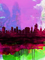 Tulsa Watercolor Skyline 2 Fine-Art Print