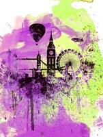 London Watercolor Skyline 1 Fine-Art Print