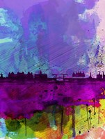 Amsterdam Watercolor Skyline Fine-Art Print