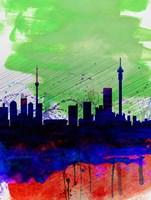 Johannesburg Watercolor Skyline Fine-Art Print