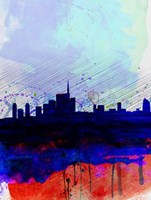 Milan Watercolor Skyline Fine-Art Print