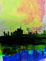 Milan Watercolor Skyline 2 Fine-Art Print