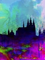 Prague Watercolor Skyline Fine-Art Print