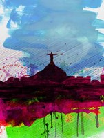 Rio Watercolor Skyline Fine-Art Print