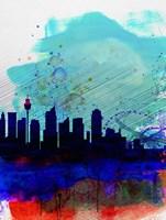 Sydney Watercolor Skyline Fine-Art Print