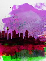 Sydney Watercolor Skyline 2 Fine-Art Print