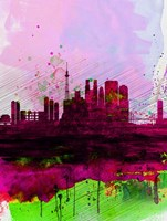 Tokyo Watercolor Skyline Fine-Art Print