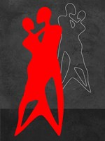 Red Couple Dance Fine-Art Print