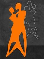 Orange Couple Dancing Fine-Art Print