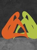 Orange and Green Women Fine-Art Print
