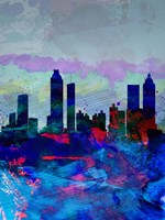 Atlanta Watercolor Skyline Fine-Art Print