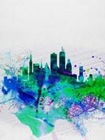 Boston Watercolor Skyline Fine-Art Print