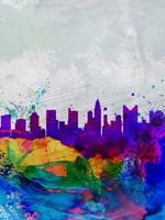 Columbus Watercolor Skyline Fine-Art Print