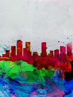Denver Watercolor Skyline Fine-Art Print