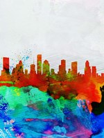 Houston Watercolor Skyline Fine-Art Print