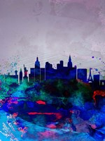 Las Vegas Watercolor Skyline Fine-Art Print