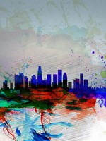 Los Angeles  Watercolor Skyline 1 Fine-Art Print
