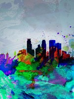 Minneapolis Watercolor Skyline Fine-Art Print