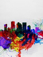Phoenix Watercolor Skyline 2 Fine-Art Print